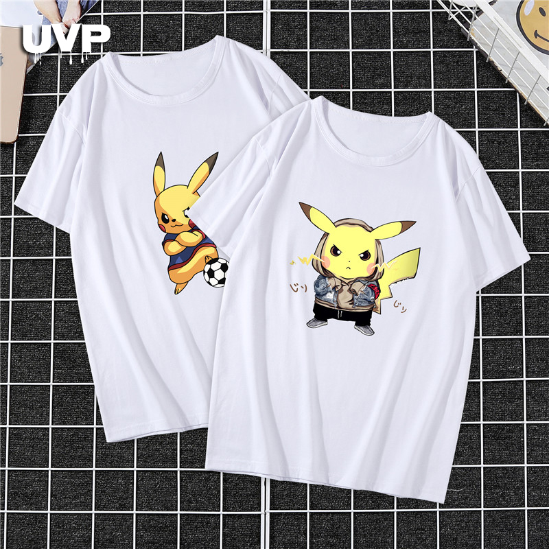 Pikachu Funny T Shirts Naruto Pokemon Printed Casual Oversize Unisex Tshirt Japanese Anime Slim Fit Tee Shirts Tops Harajuku New