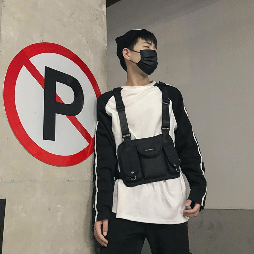 <font><b>Chest</b></font> <font><b>Bag</b></font> For Outdoor Street Style Or Design Hip Hop <font><b>Tactical</b></font> <font><b>Rig</b></font> <font><b>Chest</b></font> Pack Functional Harness Waist U2Q0 image