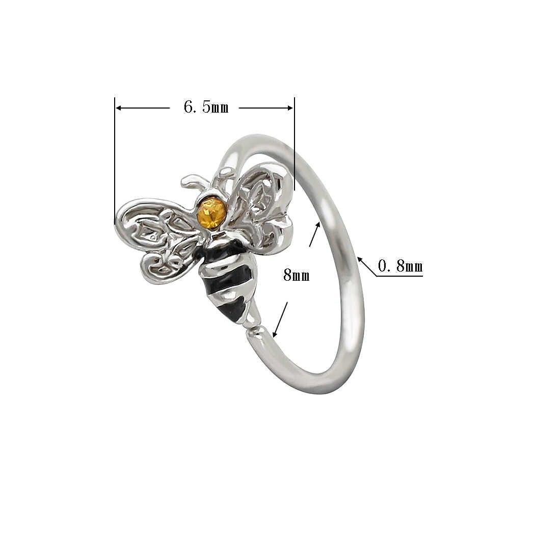 מוזי 20G האף טבעת 316L כירורגית נירוסטה קטן דבורה Tragus סחוס עגילי נחירי פירסינג