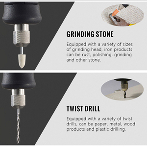 Image 4 - Tungfull Electric Drill Mini Polishing Machine Rotary Grinder Tool Mini Drill Variable Speed Rotary Power Tool Electric Engraver