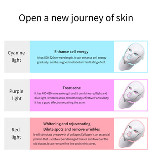 Image 5 - 7 색 Led 광자 전기 LED 얼굴 마스크 목 피부 젊 어 짐 안티 링클 여드름 광자 치료 스킨 케어 뷰티 마스크