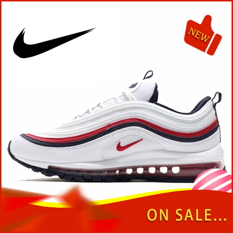 Original Authentic Nike Air Max 97 LX Men's Running Shoes Fashion Outdoor Sports Shoes Breathable Comfort 2019 New 921733-102