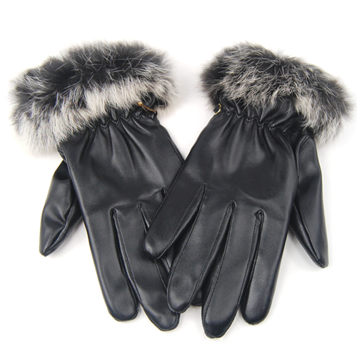 NEW LADIES QUALITY SOFT BLACK LEATHER WINTER DRIVING GLOVES WOMENS WARM
