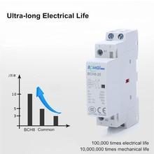 Contactor Modular Din Rail 2no 2nc Household 2P 1NO And 25A 1NCBCH8 50/60hz 220V/230V