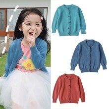 Осенний вязаный кардиган, свитера, одежда для маленьких детей, Свитера для мальчиков и девочек, детская зимняя одежда, одежда для маленьких мальчиков