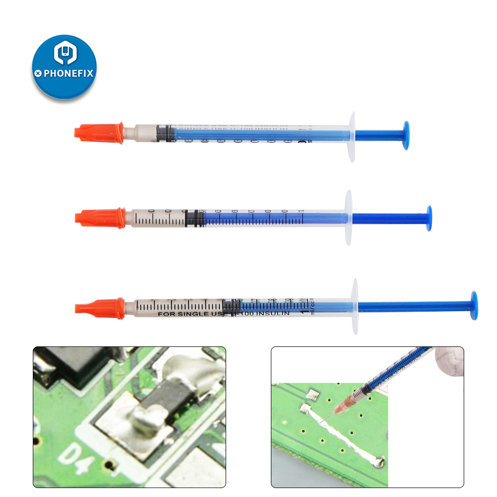 0.1ML 0.3ML 0.5ML Silver Conductive Paint Paste Wire Glue Electrically Conductive Glue Paste Adhesive Paint PCB Repair Tools