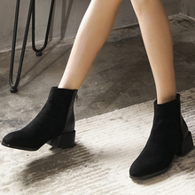 Mid-waist calf leather boots Spring womens Womens party Western fashion size 34-43