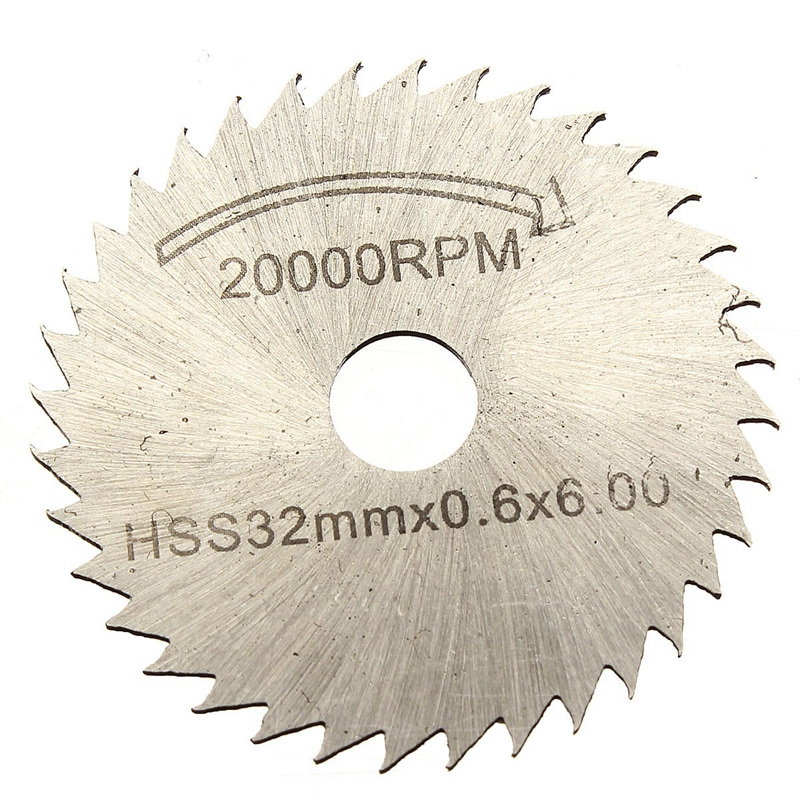 New Kits Of 6 Pcs HSS Saw Blade Circular Drive Decoupe Dent For Dremel Rotary Tool