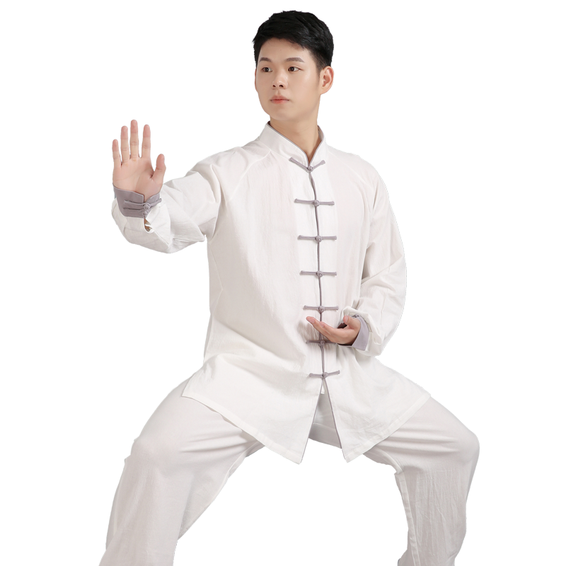 2019 Chinese Kung Fu Wushu Uniform Jiu Jitsu Long Sleeve Linen Tang Suit Martial Arts Performance Costume For Women Men