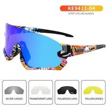 Ngoài Trời Photochromic Đi Xe Đạp Mắt Kính Nam Nữ Xe Máy Kính Mát UV400 Lái Xe Câu Cá Kính Oculos De Ciclismo 5 Ống Kính