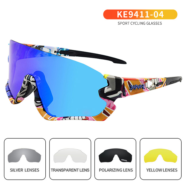 Outdoor Photochromic Cycling Glasses Men Women Motorcycle Sunglasses UV400 Driving Fishing Glasses Oculos De Ciclismo 5LENS