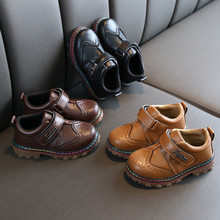 Toddler Kids Boots Boys Girl British Retro Baby Toddler Infant Party Leather School