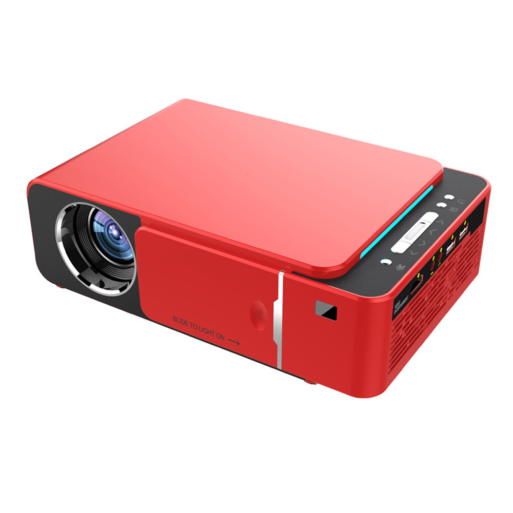 T6 Portable Projector High Definition 1080P Projectors 1920*1080 Max Resolution Household LED Projector Built-in Android system image