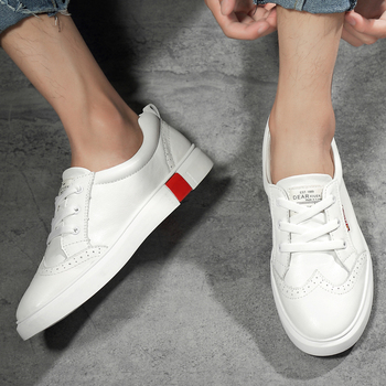 High Quality Autumn Men Casual Shoes Flats Natural Leather Fashion Style Comfortable Men shoes Handmade Sneakers Shoes Men 8 different style fashion baptism pure white shoes for 0 2 years old riband solid baby girls shoes handmade high quality 2018