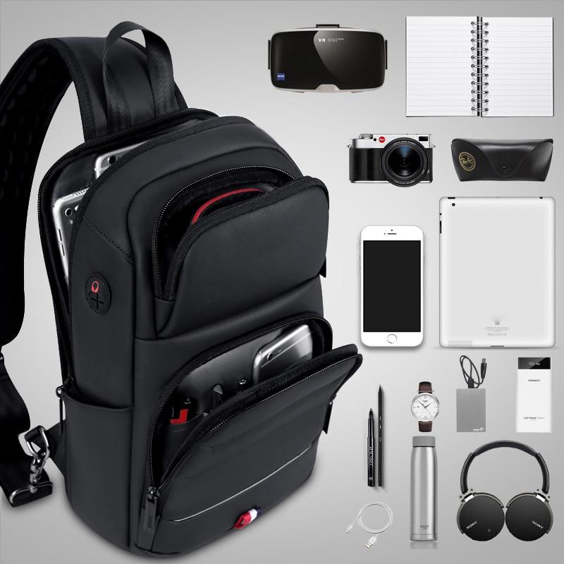 Oxford – sacs à bandoulière pour hommes, sac à bandoulière chargeur USB, sac de poitrine, sac à bandoulière simple, Pack 2020