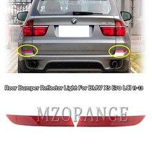 Mzorange amortecedor traseiro do carro refletor luz para bmw x5 e70 lci 2011 2012 2013 vermelho lente traseira redlector carro reflexivo luz de nevoeiro lâmpada
