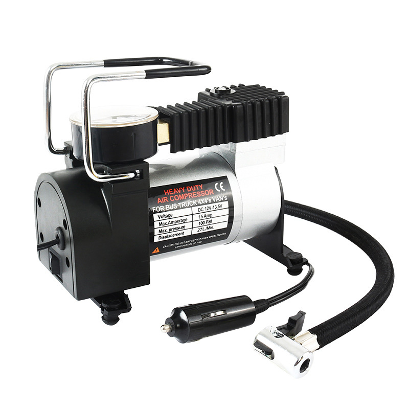 12V Portable Car Electric Inflator Pump Air Compressor 80PSI Electric Tire Tyre Inflator Pump For For Auto Bicycles Motorcycles