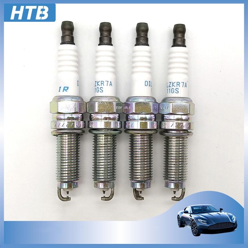 4pcs 12290-r41-l01 Dual Iridium Spark Plugs For Honda Accord Crv Iv Civic 1.8l Hrv Ix Lx Sport Candle 12290r41l01 Dilzkr7a11gs