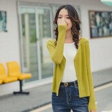 INMAN, весна 2020, Новое поступление, минималистичный элегантный стиль, v образный вырез, однобортный, облегающий, слегка эластичный кардиган, Вязанный свитер