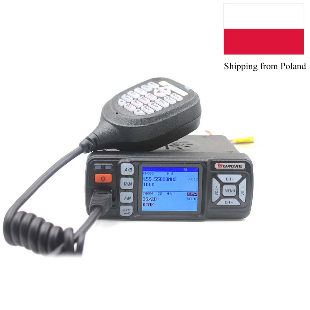 BAOJIE Walkie-Talkie Car-Radio BJ318 Dual-Band 400-490mhz Mini 136-174 25W Bj-218-Upgrade