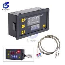 Dc 5 v 12 v 24 v ac 200 v-60 500500digital digital led de alta temperatura interruptor de controle termostato alto k-tipo termopar