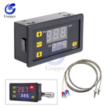 DC 5V 12V 24V AC 200V -60~500℃ Digital LED High Temperature Control Switch Thermostat High thermometer K-type thermocouple