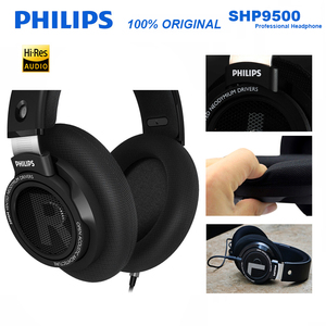 Original Philips SHP9500 HIFI Headphone Wired Detachable 3m cable headset for Huawei Xiaomi Samsung laptop Support Official Test