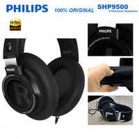 Oryginalny Philips SHP9500 słuchawki hi-fi przewodowy odpinany 3m przewodowy zestaw słuchawkowy do Huawei Xiaomi Samsung laptop wsparcie oficjalny Test