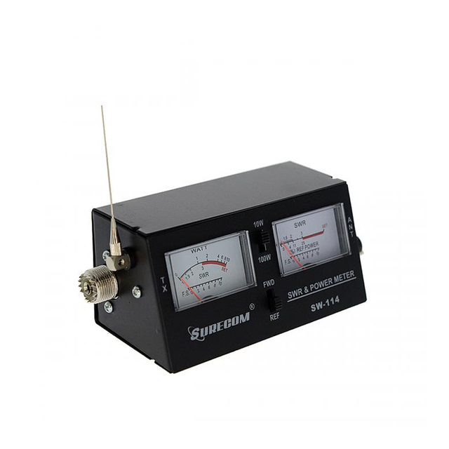 Surecom SW-114 SWR/RF/Field Strength Test Power Meter for Relative Power 3 Function Analog with Field Strength Antenna 2