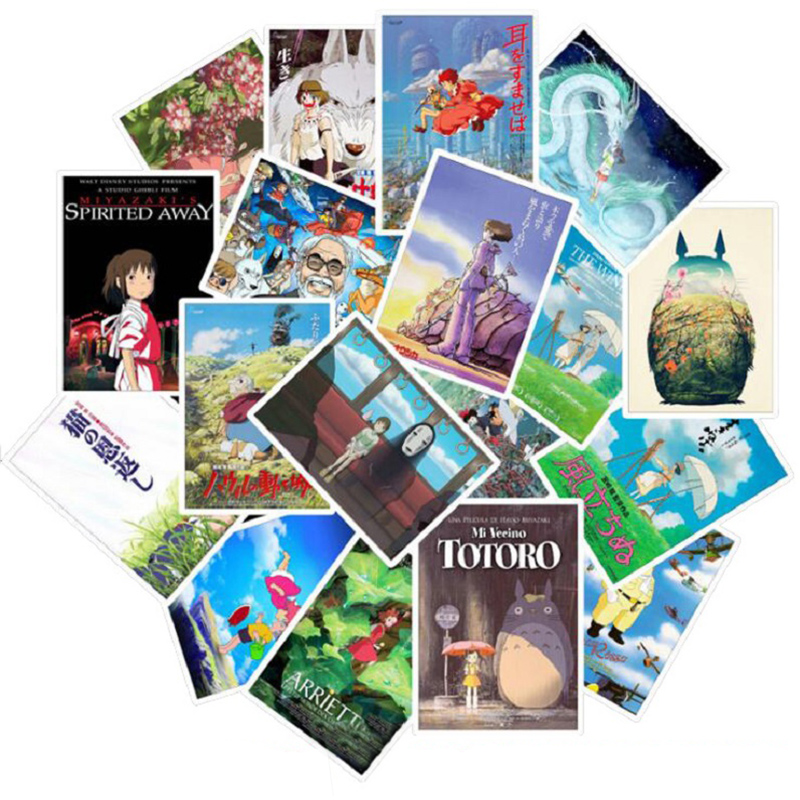 25pcs Miyazaki Hayao Anime Stickers My Neighbor Totoro/Spirited Away For Bike Laptop Motorcycle Skateboard Guitar Sticker
