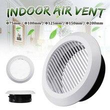 Воздух вентиляционное отверстие решетка круглый внутренний вентиляция выход воздуховод труба крышка крышка 75 мм% 2F100mm% 2F125mm% 2F150mm% 2F200mm для ванной кухни офиса