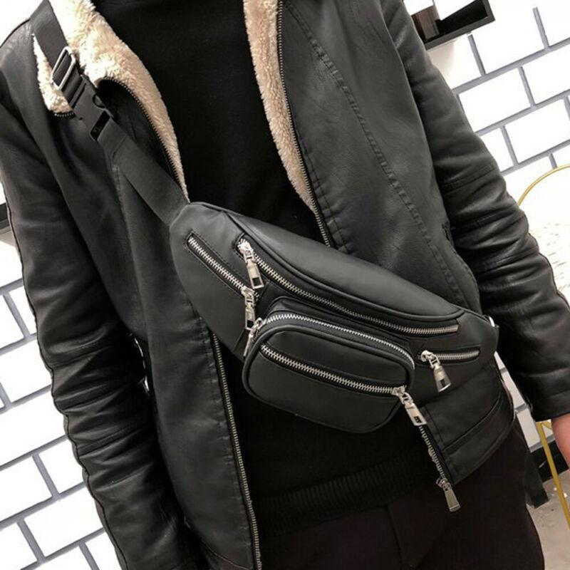 Women Men Fashion Waist Packs Black Fanny Pack Running Travel Holiday Zip Belt Bags Unisex Money Pouch Waist Packs High Quality
