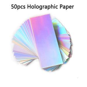 Image 4 - 50pcs גליטר רקע נייר עבור 11x5cm הזזה מקרי מקצועי אריזת אביזרי עבור עפעף מקרה
