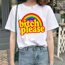 Newest Rainbow Harajuku Funny Catoon T Shirt Women Ullzang Kawaii Unicorn T-shirt 90s Korean Style Tshirt Graphic Top Tee Female(China)