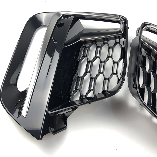 2018 2019 2020 Frame Trim Protector Exterior CoverFront Fog Light grille For BMW New X3 G01 X4 G02 cerium Gery Lamp Cover 2