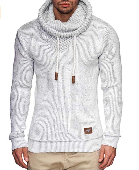 Mens Sweater Hooded Long-Sleeve Male Casual Fashion Black ZOGAA Slim Gray Solid New-Brand