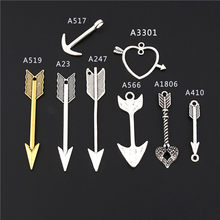 10Pcs Mix Colors Heart Shaped Arrow Charms Finding Tool Product Diy Bracelets Choke Handmade Jewelry Supplies(China)