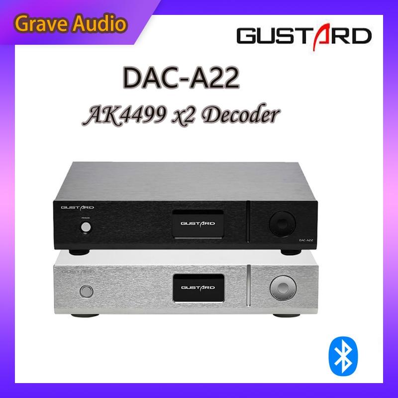 GUSTARD DAC-A22 DAC Dual AK4499 XMOS поддержка DSD512 PCM768 встроенный сбалансированный декодер AC100V-240V предварительная продажа