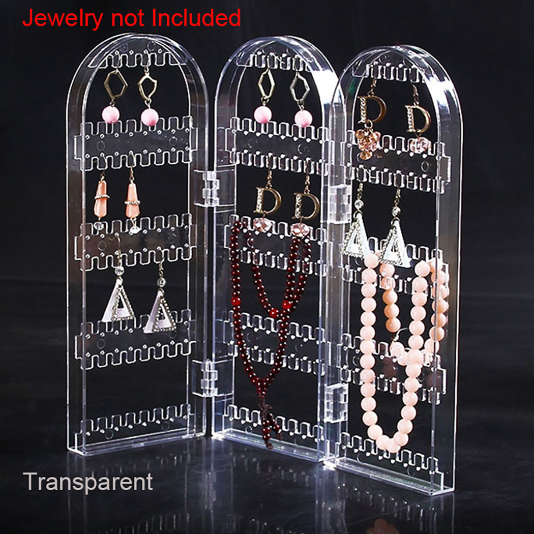 Creative Screen Necklace Jewelry Rack Plastic Earrings Earring Display Stand Large Capacity Earring Holder Necklace Hanger