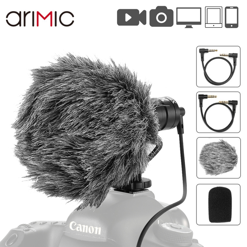 Ulanzi Microphone-Cardioid Shotgun Interview Mic Voice-Record DSLR Mini Arimic for iPhone