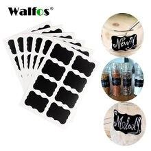 Walfos 72 шт наклейка для кухни наклейки Органайзер белый мел
