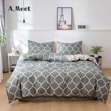 Серый постельные принадлежности набор серый дизайн мальчик девушки 150х200 королева король размер корейский готический Edredones г Conjuntos де Ропа Каму челнока