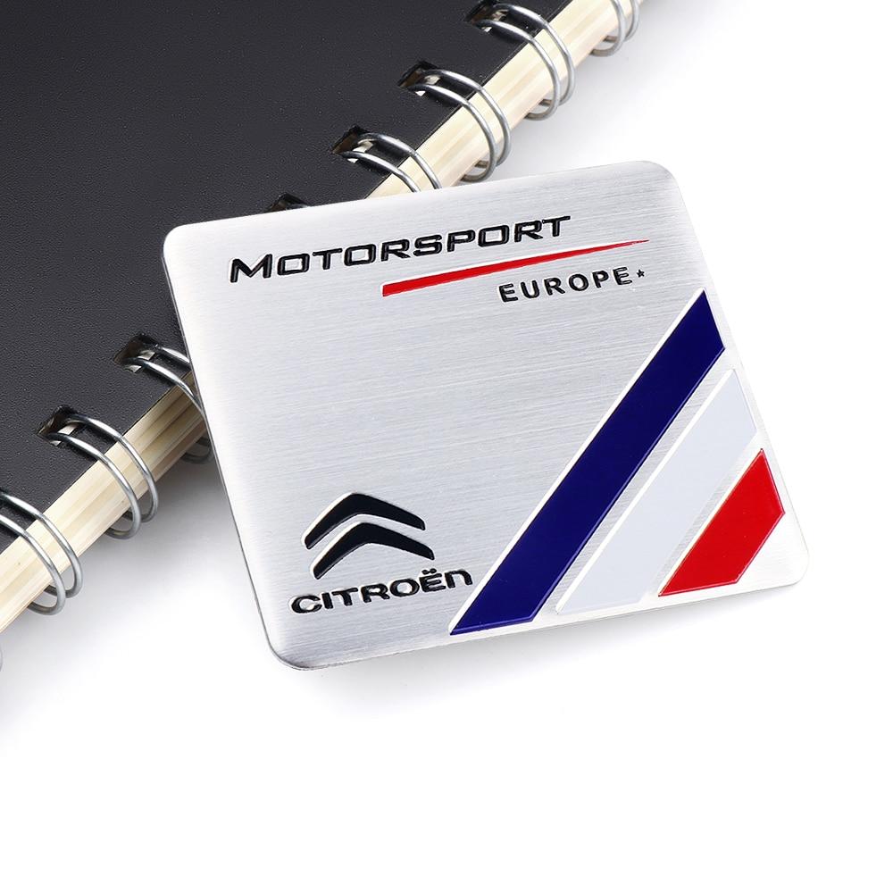 Car-Styling Decoration MTOTORSPORT Europe Emblem Aluminum Sticker For Citroen C4 Picasso C4L C3-XR C2 C3 C5 C6 Auto Accessories