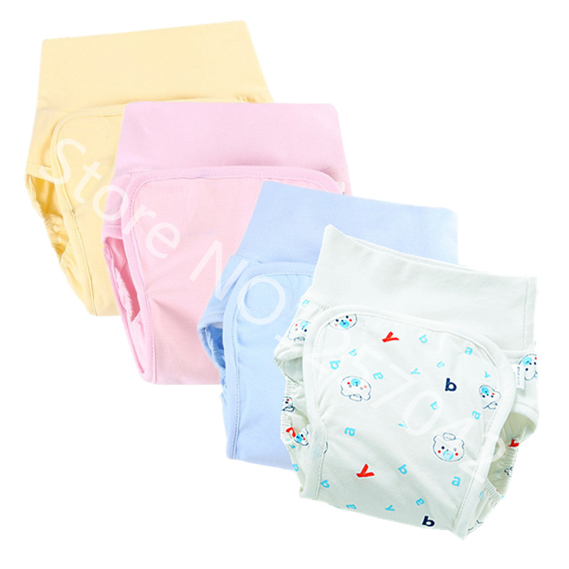 Cotton Baby Diaper Waterproof  Cloth Diapers Nappies Reusable Diaper Cover Pants  Washable Baby Nappies