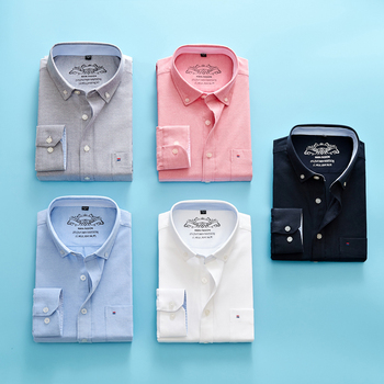Casual cotton Oxford mens shirt with long sleeve breast pocket design is formal, fit and fashionable