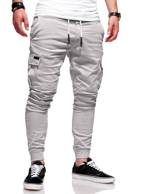 Autumn Men Joggers Pants 2020 New Casual Male Cargo Military Sweatpants Solid Multi-pocket Hip Hop Fitness Trousers Sportswear 24