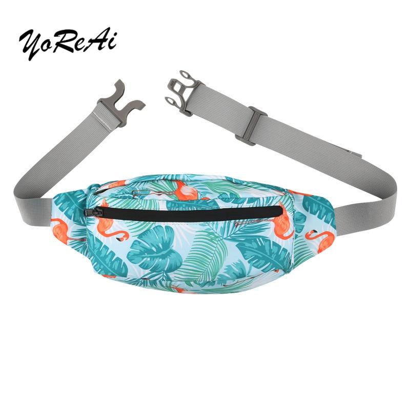 YoReAi Fashion Women Men Banana Waist Bag Colorful Unisex Waistbag Kidney Belt Bags Mobile Phone Zipper Pouch Packs Belt Pack
