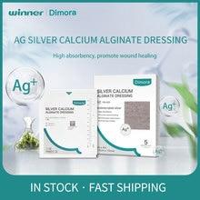 Winner Dimora Ag Silver Calcium Alginate Wound Dressing Pads, Highly Absorbent Non-Stick Sterile Gauze Wound alginato dressing