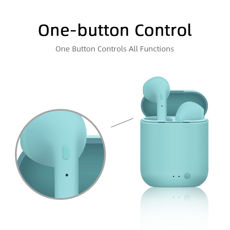 M&J TWS Mini 2 Wireless Headphones Bluetooth 5.0 Earphone Matte Macaron Earbuds Handsfree With Mic Charging Box Headset PK I9S 3