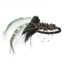 Bandeau pince à cheveux plume de paon | Spectacle de scène Original fête de danse de la mariée, accessoires pour la tête